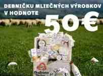 Súťaž o debničku mliečnych výrobkov v hodnote 50€