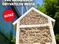 Súťaž o originálny domček pre včely a iné opeľovače