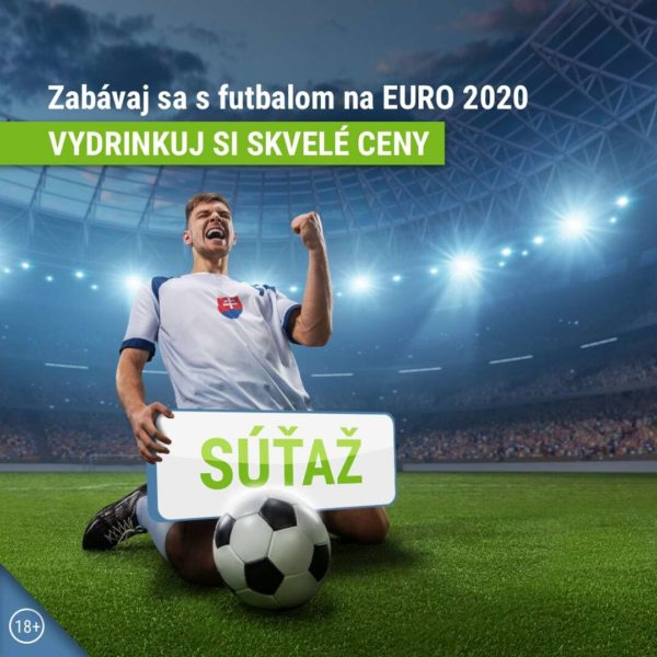Zabávaj sa s futbalom na EURO 2020 a vydrinkuj si skvelé ceny