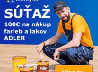 Súťaž o poukážku v hodnote 100€ na nákup olejov, lazúr a farieb na drevo značky Adler