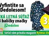Súťaž o tri balíčky značky Dedoles