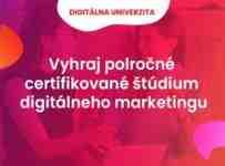 Vyhrajte polročný kurz digitálneho marketingu v hodnote 690€