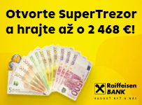 Otvorte SuperTrezor a hrajte až o 2468€