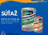 Súťaž o 5kg balenie farby Epoxyban RAL 7045