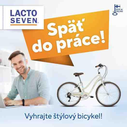 Súťaž o LE GRAND Comfort Pave bicykel + prípravky LACTO SEVEN