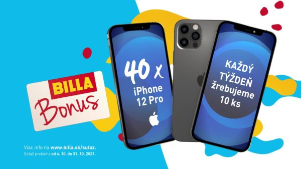 Vyhrajte za nákupy v BILLA 40x iPhone 12 Pro